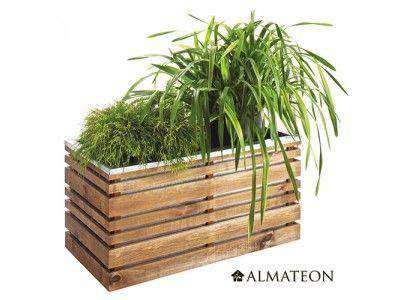 Bac à fleur LIGN Z - Un bac de grande taille, d'une capacité de 202L pour exposer vos plantes !  Ce bac aux dimensions généreuses sera un véritable atout déco pour votre terrasse et mettra idéalement en valeur vos plantes.  Le bois est du pin certifié FSC provenant de Pologne promettent une grande qualité de produit. Traité en autoclave de classe 3, le bois peut supporter le contact de l'humidité. Les finitions apportées à ce produit lui offrent un design véritablement haut de gamme