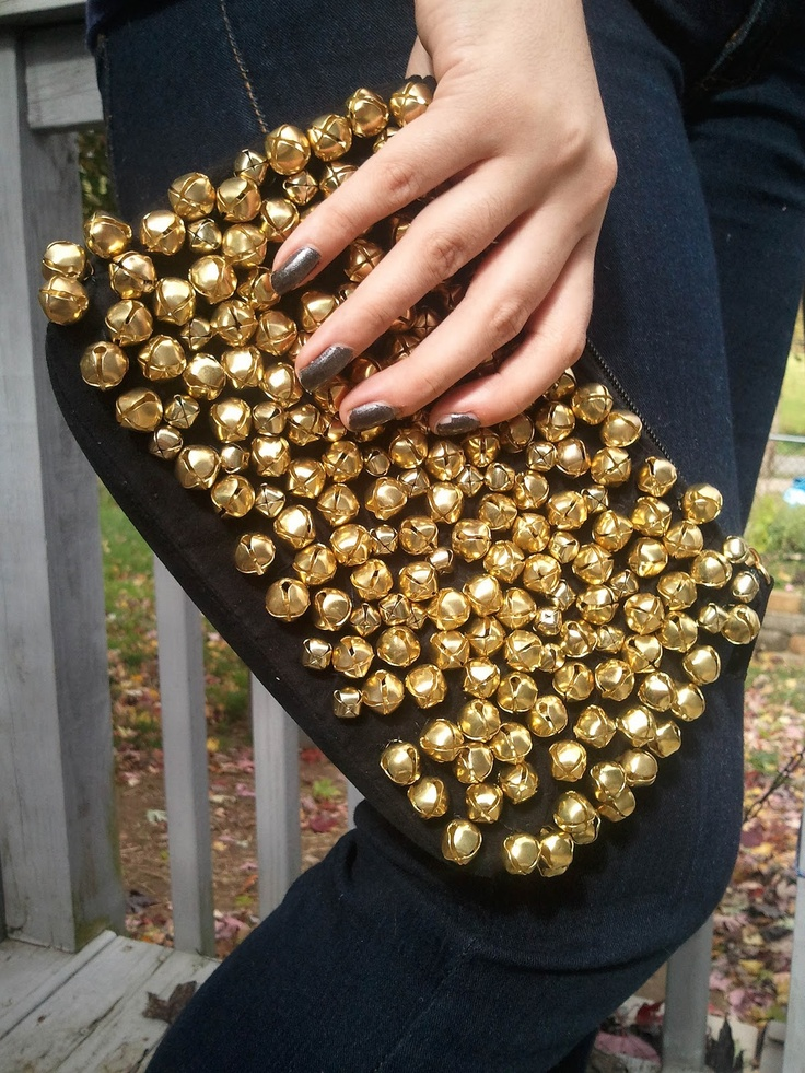 DIY: Christian Louboutin-inspired bell clutch