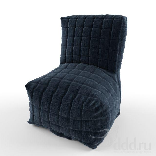 chair soft dark blue 3dsMax 2011 + fbx (Vray) : Кресла : Файлы : 3D модели, уроки, текстуры, 3d max, Vray