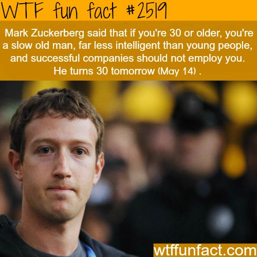 Mark Zuckerberg, turns 30 in may 14 - WTF fun facts