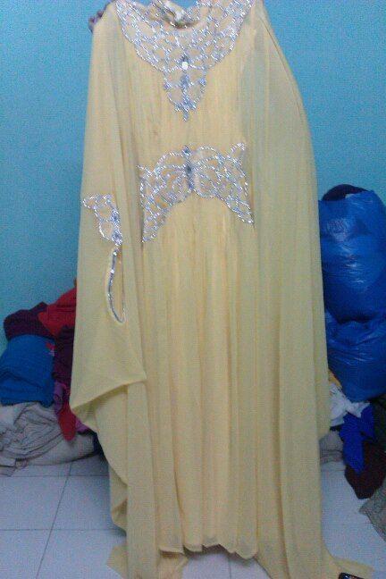 Al Firdausi pastel yellow caftan https://www.facebook.com/photo.php?fbid=192666780874590&set=a.154073471400588.33481.100003938080044&type=3&src=https%3A%2F%2Ffbcdn-sphotos-d-a.akamaihd.net%2Fhphotos-ak-xpa1%2Ft1.0-9%2F19415_192666780874590_178864931_n.jpg&size=432%2C648