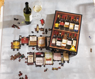 wine lovers puzzle & playing cards