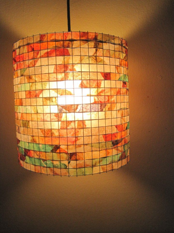 211 best paper lamps lanterns images on pinterest paper crafts coffee filter lampshade by lampada etsy mozeypictures Image collections