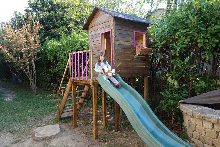 Construire une maisonnette de jardin pour enfant plan - Plan cabane de jardin ...