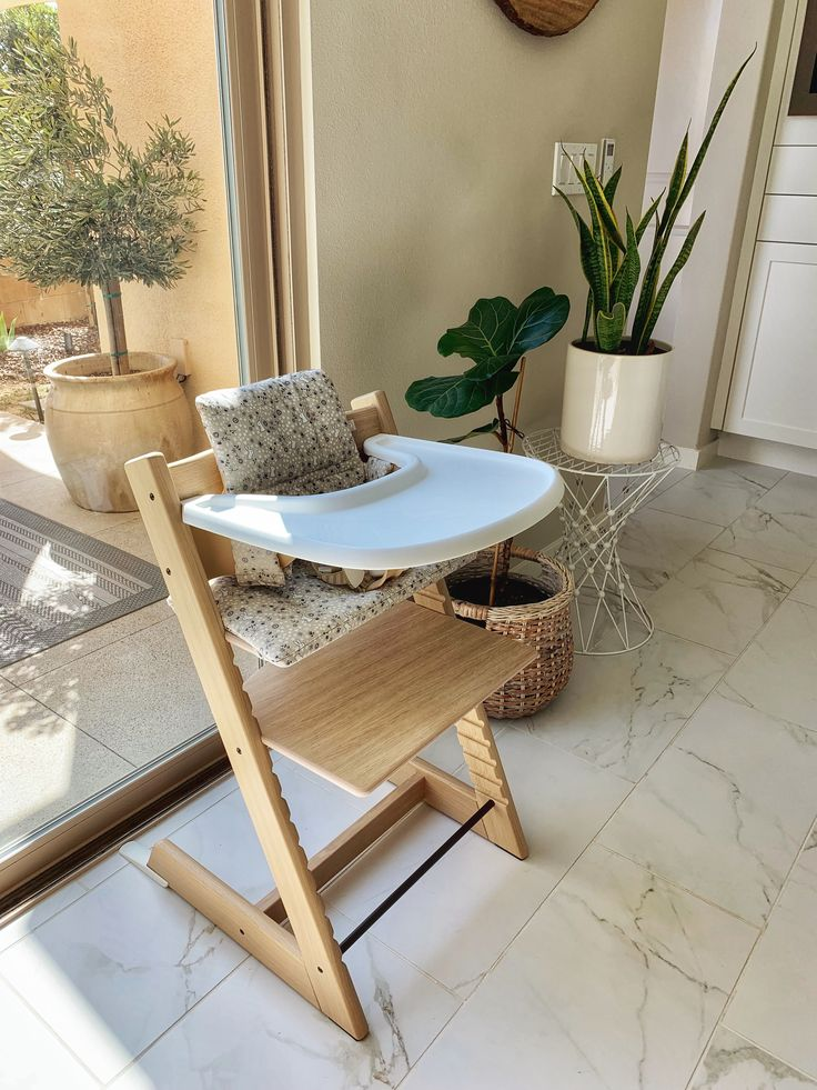 Stokke Tripp Trapp High Chair in Oak Natural Midcentury