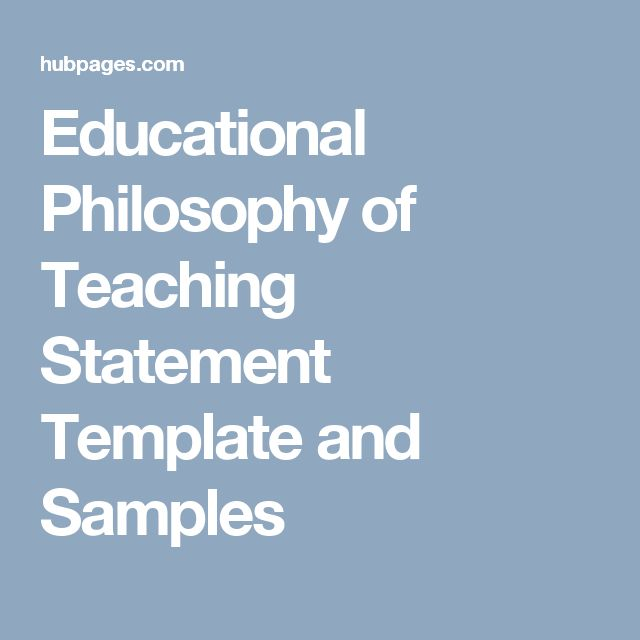 Educational Philosophy of Teaching Statement Template and Samples