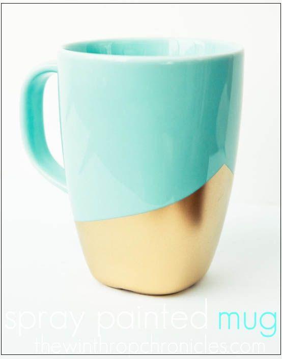 DIY Gold dipped coffee mug