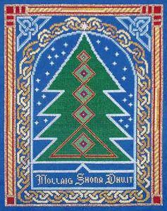 NVP Design Celtic Christmas Tree Counted Cross Stitch Pattern