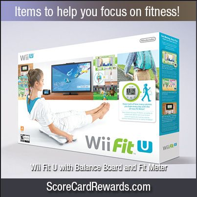 Remember to use your ScoreCard Rewards card for all your everyday purchases so you can earn rewards like this Wii Fit U with Balance Board and Fit Meter… and more!