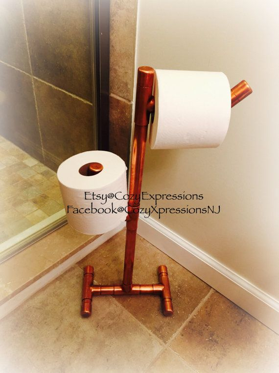 Standing Copper Toilet Paper Holder By Cozyexpressions On Etsy Unique Pinterest Toilet