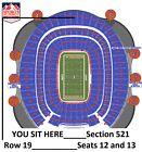 2 Denver BRONCOS vs. New York GIANTS tickets_October 15 2017_Section 521_Row 19