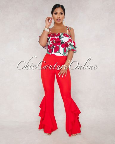 c3c4feca3daf LaRanda Red Floral Two Piece Set in 2019 | Fabulous Fashions | Floral two  piece, Chic couture online, Fashion