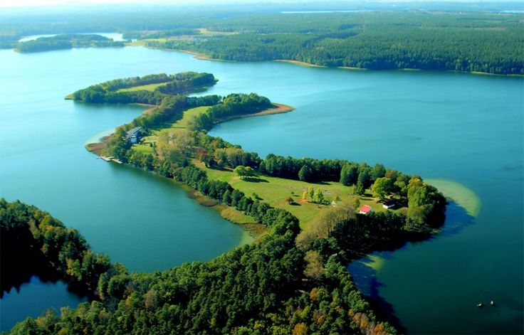 Mazury place of thousand lakes, Poland