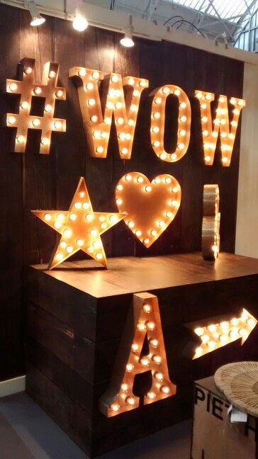 #WOW #Letters #lightup #heart #star