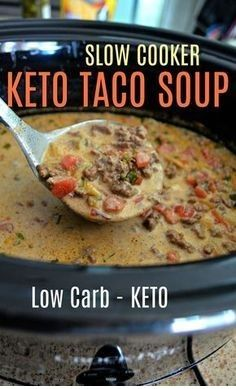 Sopa de keto y taco fácil de cocción lenta