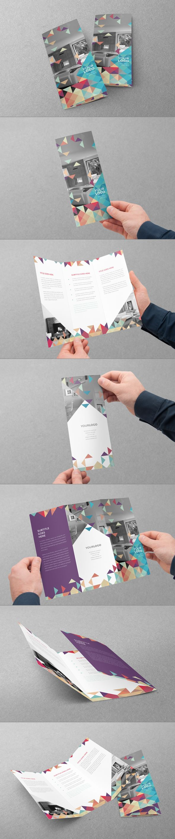 Minimal Colorful Trifold on Behance
