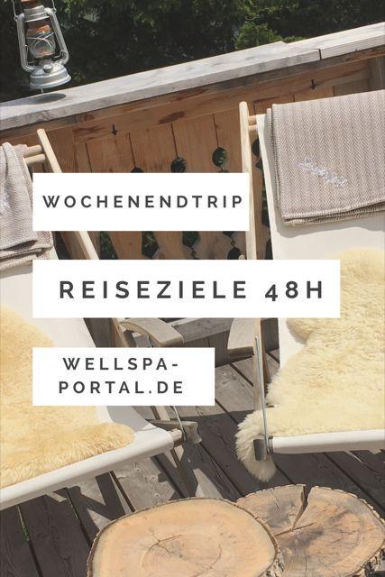 Lust auf einen Wochenendtrip? Du suchst die besten Reiseziele für 48h? Ob Städtereise, Zeit zu Zweit, ein Wellness Wochenende oder eine coole Wanderung. Ob in Deutschland, als Europa Reise oder direkt in der Heimat. Reiseideen mit wertvollen Tipps für Fotografie, Essen und Trinken, Sehenswürdigkeiten und Wanderungen für den gelungenen Kurzurlaub. Komm mit dem WellSpa-Portal zu den coolsten Reisezielen für 48 Stunden, dem perfekten Tag in ... und entspannten Wochenendtrips