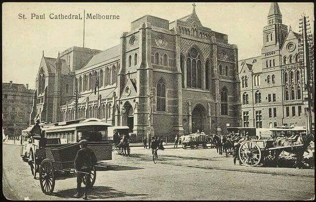 St Paul Cathedral in Melbourne (year unknown).A♥W