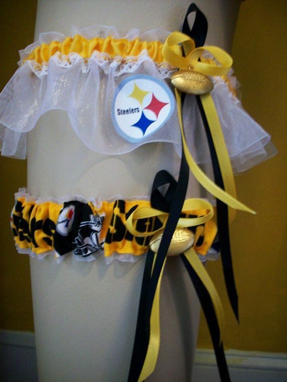 haha Jeff would have loved these .... maybe for yours... what is his team?!?1NFL Teams Pittsburgh Steelers Wedding Garter by SportsIntimates, $59.00