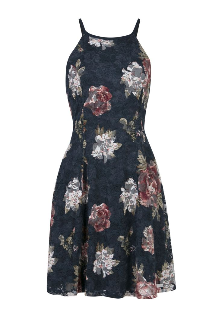 JUSTIFY Strappy Floral Print A Line Dress with Lining