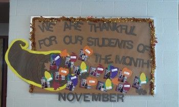 Thanksgiving Student of the Month Bulletin Board Idea