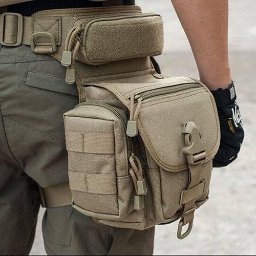 Carry everything on your side with the Outdoor Multifunctional Tactical Leg Bag. Perfect for storing cell phone, keychain, GPS device, digital cameras, medical supplies, tools, and everything else you                                                                                                                                                                                 Más