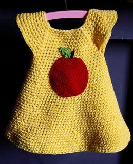 Crochet Apple Dress - Tutorial
