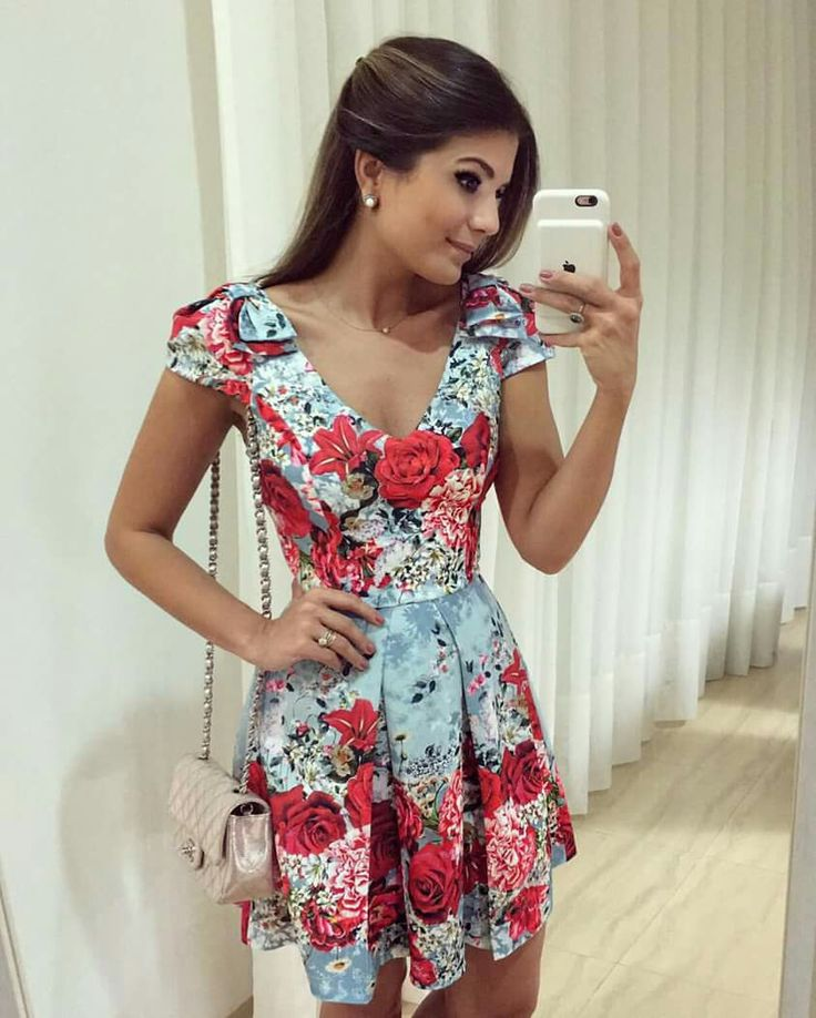 Vestido, floral, romântico, Ariane Canovas
