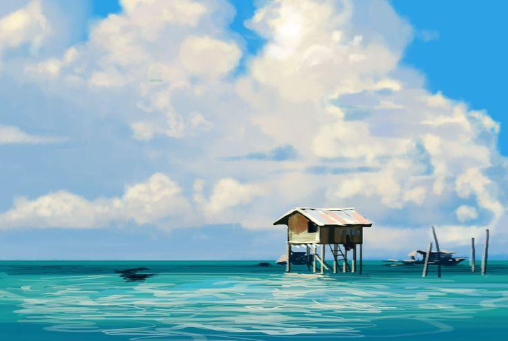 speed painting/Kang Min Jeong/30min./cloud and sea