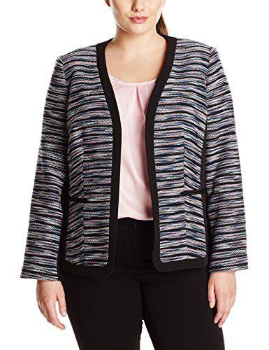 fba5717e931 Kasper Women s Plus-Size Fly Away Tweed Jacket • HowTheLook