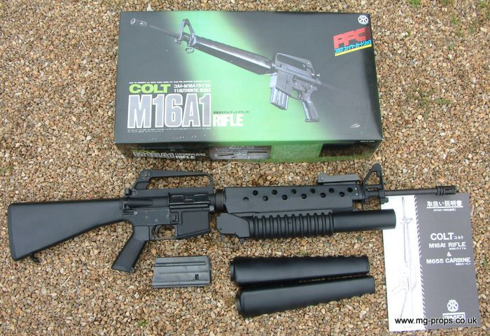 m16a1 with fixed bayonet and m-203 | Brand new Metal Marushin: Colt M16A1 + gas operated M203 grenade ...
