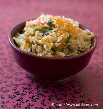 Riz sauté aux légumes au wok - Recettes de cuisine Ôdélices