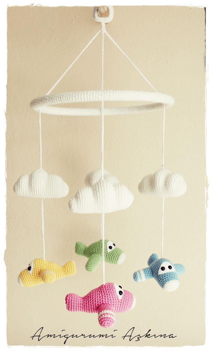 Amigurumi Sake: Recipes cobwebs plane Amigurumi Amigurumi Pattern-Free Baby Mobile