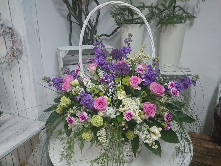 kosz kwiatów letnich