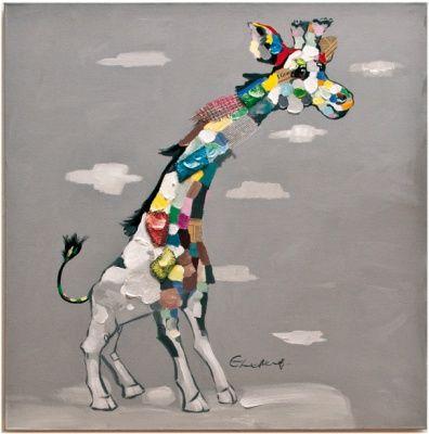Quadro Giraffa Moderno Colorato per Camerette