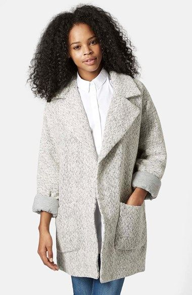 Topshop Oversized Long Jacket available at #Nordstrom