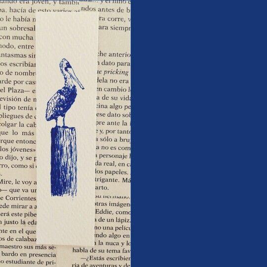 Pelicano en tinta