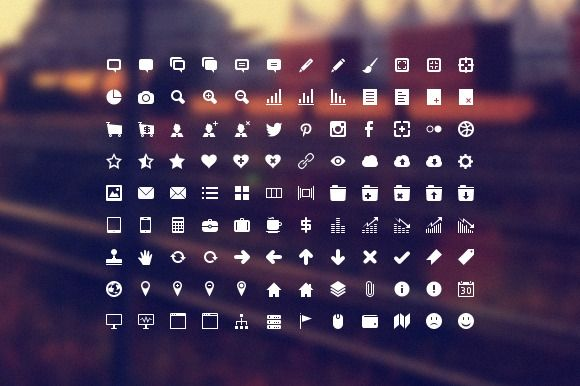 Developer Icon Set by IconDeposit on @creativemarket