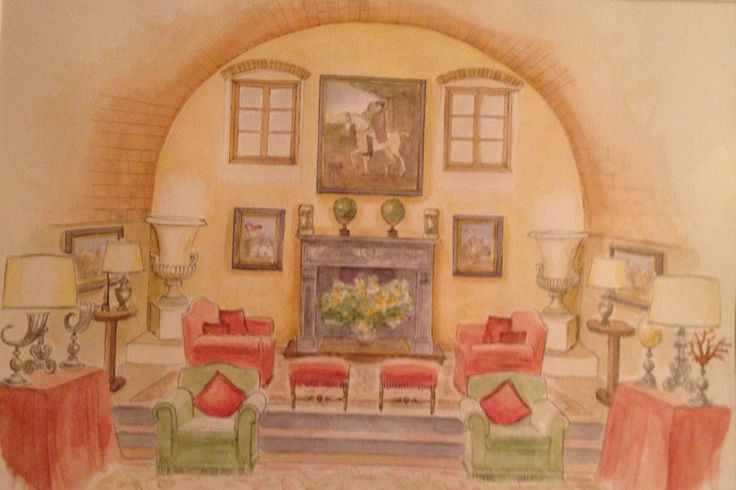 wather color of the living room of Villa Collalto