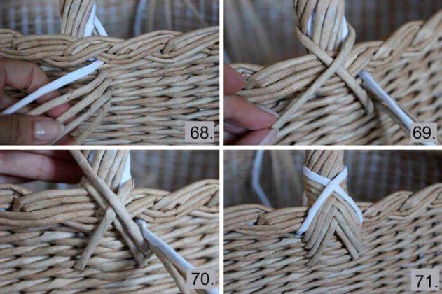 fül Как сделать большую плетёную корзину из газетных трубочек – мастер-класс. Авторские работы плетёные из бумажной лозы заказать, купить, Калининград