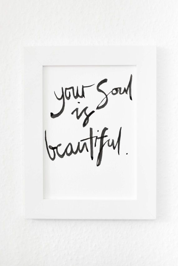 Calligraphy inspirational or motivational wall art, printed poster. This is a print, a reproduction of the original art. It is printed on quality