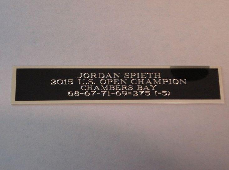 Jordan Spieth Nameplate For A 2015 US Open Golf Flag Or Golf Ball Case 1.25 X 6 #BobbysHangUps