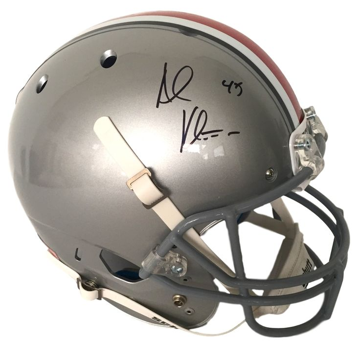 Andy Katzenmoyer Signed Full Size Ohio State Buckeyes Schutt Replica Helmet JSA - Sports Integrity