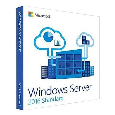 Microsoft Windows Server 2016 Standard - License, 16 cores, OEM, DVD, 64-bit, English