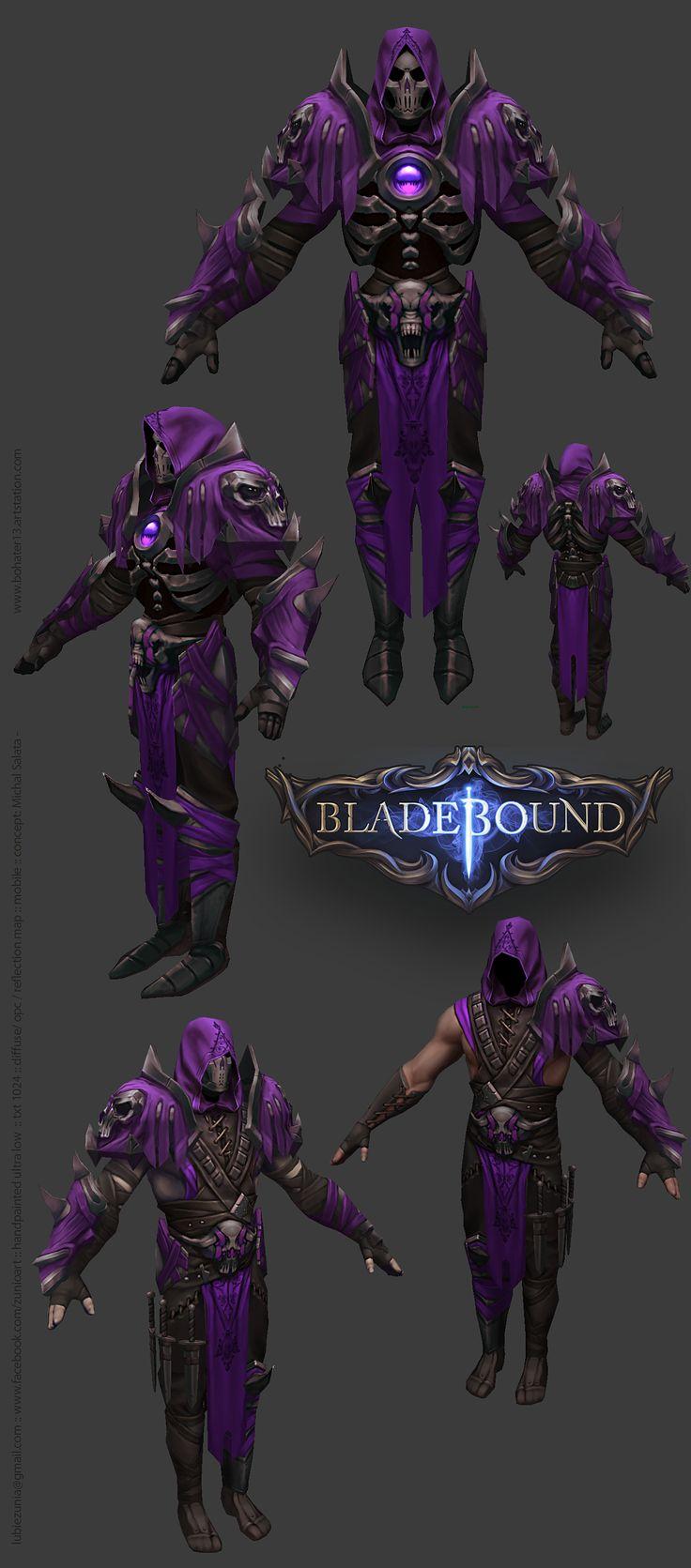 Bladebound Handpainted Dark Armor www.facebook.com/zunioart