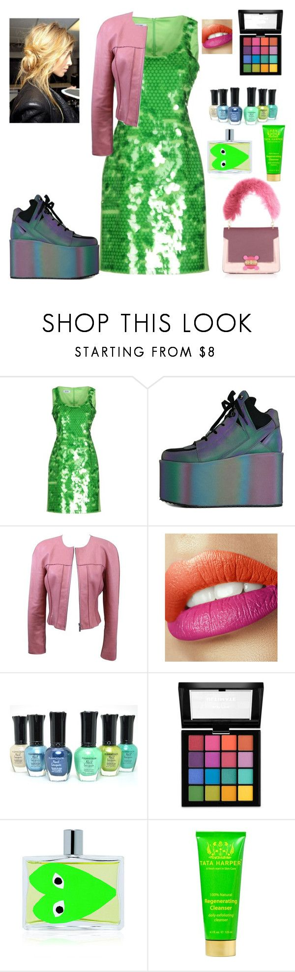 """""""I love this dress! (read D box)"""" by missbeth1897 ❤ liked on Polyvore featuring Moschino Cheap & Chic, Y.R.U., Chanel, NYX, Comme des Garçons, Tata Harper and Anya Hindmarch"""