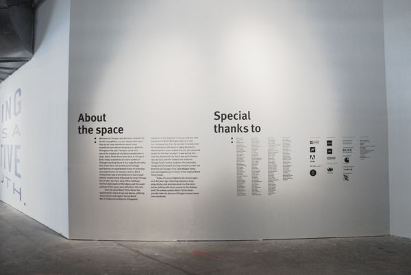 Chicago Design Museum, Work at Play—2014, Way-finding by Pouya Ahmadi, via Behance