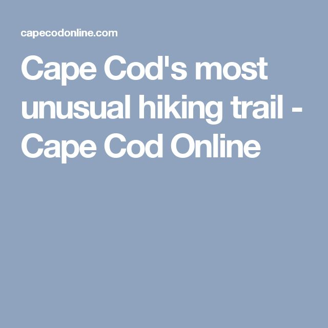 Cape Cod's most unusual hiking trail - Cape Cod Online