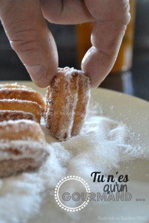 Churros maison au sucre tonka