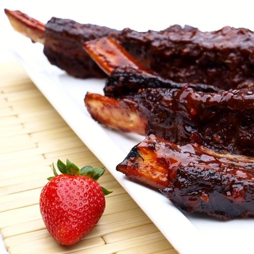 Strawberry Chipotle Beef Ribs